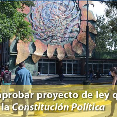 UCR pide no aprobar proyecto de ley que modificaría artículo 85 de la Constitución Política